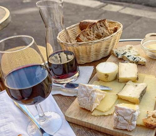 wine  cheese platter